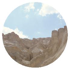 Wadi Prazim and Mount Sodom